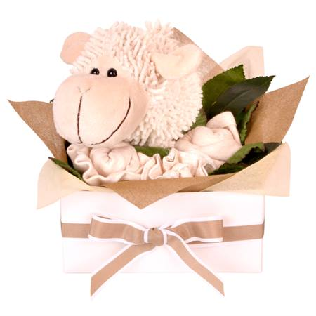 Baby shower gifts baby shower ideas baby shower gift ideas lamb giftset negle Image collections